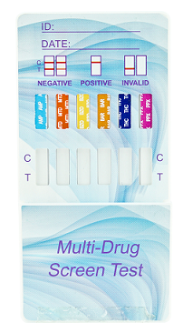 Urine- 12 Panel DIP Card test for: AMP, COC300, OXY, THC, PCP, MDMA, MOP300, BZO, BAR, MTD, mAMP1000, BUP - CLIA Waived - (25 tests)
