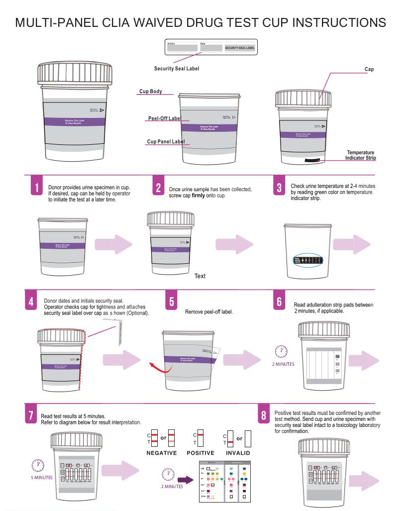 Urine - 10 Panel ClickerCup 5oz - Drug Screen - HCDOAV-4104: THC, COC, OPI2000, AMP, MET PCP, BZO, BAR, OXY, MTD - (100 tests) - CLIA WAIVED