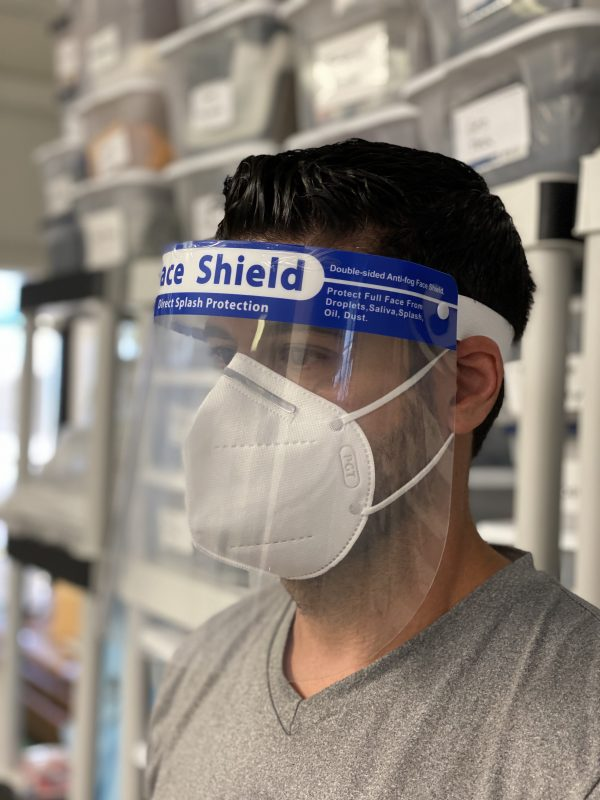 Face Shield Plastic Protective - Pack of 10 - IN STOCK